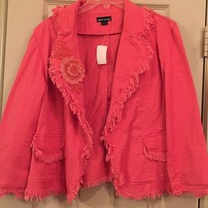 Coral color Jacket